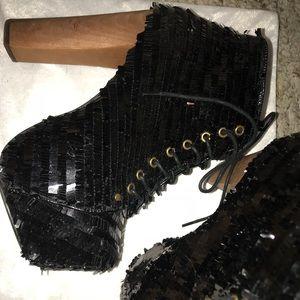 Jeffrey Campbell lita heeled boots size 6.5